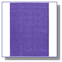 Garland Rug Shazaam Area Rug, 4-Feet by 6-Feet, Purple Vogue