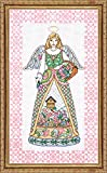 Tobin DW2810 14 Count Counted Cross Stitch Kit, 9 by 15-Inch, Spring Angel-Jim Shore