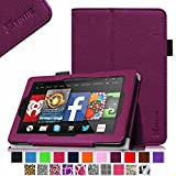 Fintie Fire HD 7 Tablet (2014 Oct Release) Case Slim Fit Leather Standing Protective Cover with Auto Sleep/Wake Feature (will only fit Fire HD 7 4th Generation 2014 model), Purple