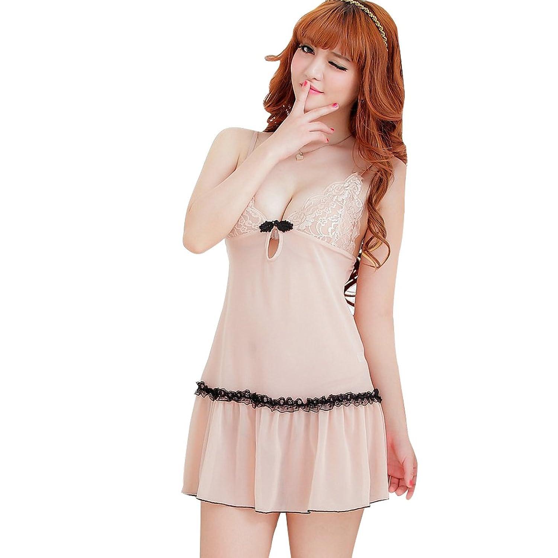 Deercon Frauen-reizvolle W?sche-Kleid-Nachtzeug Babydoll Sleepwear G-string (Aprikose) jetzt kaufen