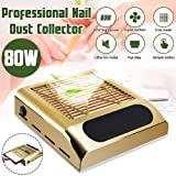 YILIAN Nail Dust Collector, 80W Nail Grinding Polishing Dust Suction Fan Nail Art Salon Manicure Machine Vacuum Cleaner Equipment