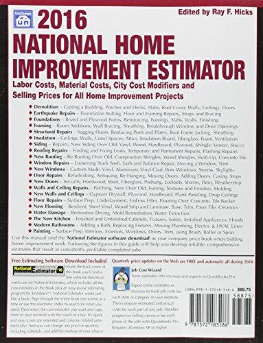 2016 National Home Improvement Estimator Media Books Non