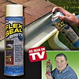 Flex Seal 14-Ounce As Seen on TV Liquid Rubber Sealant in a Can, Brite (1 Pack Special)