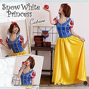 shen-princess : L : ハロウィン 白雪姫 コスプレ コスチューム 衣装 仮装 M L XL 大きいサイズ ドレス ハロウィーン ハロウイン HALLOWEEN はろうぃん はろうぃーん ディズニー ウィッチ 魔女 天使 かぼちゃ 大人 リボン パーティー グッズ (L)