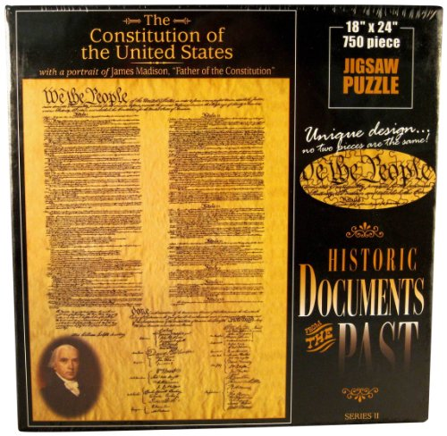 American Documents The Constitution of The United States Jigsaw Puzzle, 750-Piece