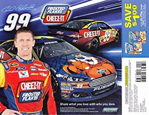 Buy 2013 Carl Edwards #99 Frosted Flakes Cheez-It Team 9X11 NASCAR Hero Card *AUTOGRAPHED* by Trackside Autographs