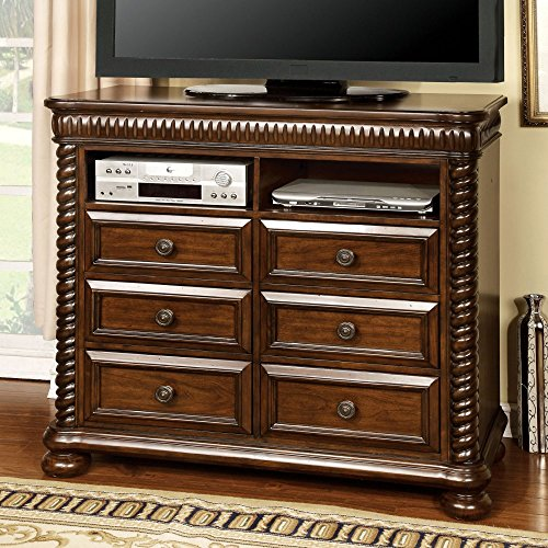 Furniture Of America Grand Eclair 6 Drawer Media Chest - Cherry, Brown, Wood front-968344