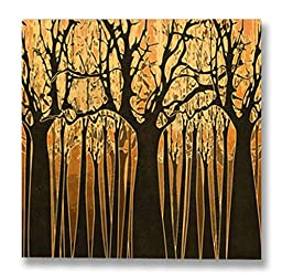 Neron Art - Hand painted Nature Oil Painting on Gallery Wrapped Canvas - Forbidden Forest 48X48 inch
