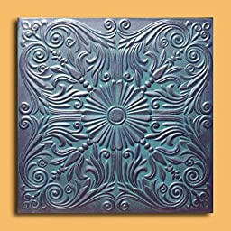 Antique Ceilings Inc - Astana Graphite Patina - Styrofoam Ceiling Tile (Package of 10 Tiles)