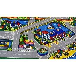 Kids Rug Harbor Area Rug 5\' x 7\' Children Area Rug for Playroom & Nursery - Non Skid Gel Backing (59\