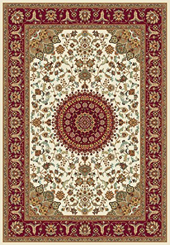 Istanbul Collection Traditional Area Rug Classic I8112 Cream/red (3'11'' X 5'7'')