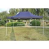 Tente Pliante légère Tonnelle ECON. 3x4,5m en Polyester 180g/m² traitée antigel - Indigo