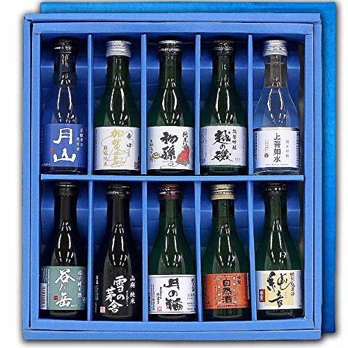 「純米酒を飲み比べ」 日本全国地酒 純米酒 呑み比べ ギフト箱セットB 180ml×10本サンキューセット