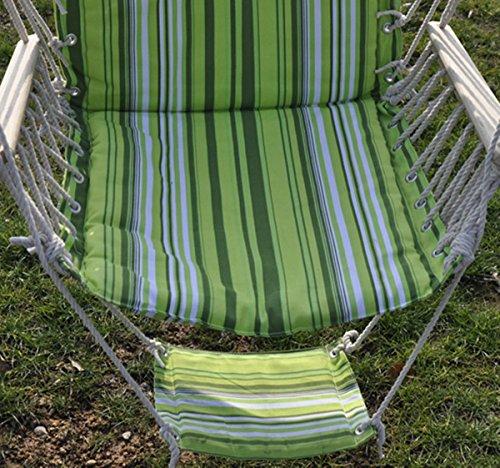 Romario Groomsmen PTO181435382597 Leisure Swing Hammock Hanging Outdoor Chair Garden Patio Yard, Patio Green Tone, Max Load:260lbs