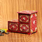 Cultural Concepts Handpainted 3 Drawer Chest