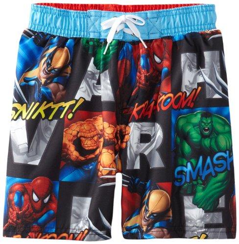 Marvel Little Boys' Juvi Swim Avengers Action Callouts, Multi, 6/7 front-1050980