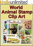 World Animal Stamp Clip Art