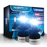 H4/HB2/9003 LED Car Headlight Bulbs Conversion Kit,Nighteye-A315-S2 72W 9000LM Cool White CREE LED Automotive Driving Headlight Bulbs (Pack of 2)- 3 Year Warranty (Color: H4/HB2/9003)