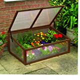 Gardman Wooden Cold Frame Cloche Mini Greenhouse