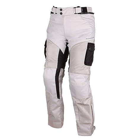 Modeka 2 pantalon en tissu filet-gris