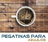Pegatinas para azulejos Pulgares para arriba me gusta la cocina taza de café tamaño del azulejo 25x25cm (Número de azulejos = 3 ancho 2 alto)
