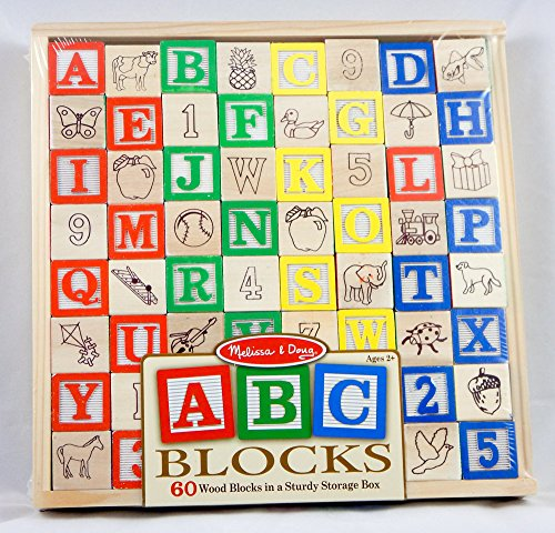 Melissa And Doug Abc Blocks - 60 Wood Blocks Sturdy Storage Box - Ages 2+ back-350870