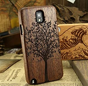 Dsrlucky Hot Natural Tree Wood Bamboo Wooden Cover Case for Samsung Galaxy Note3 III N9000