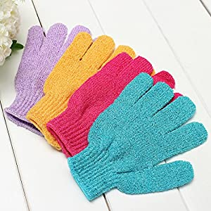 Exfoliating Bath Gloves Skin Care Back Body Scrub Cleaning Massage Mitt