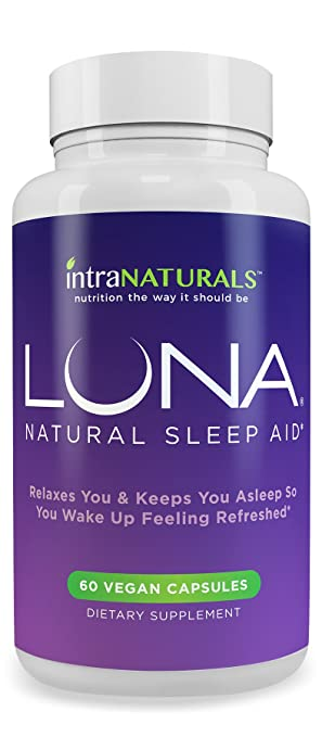 LUNA - #1 Natural Sleep Aid on Amazon - Herbal, Non-Habit Forming Sleeping Pill (Made with Valerian, Chamomile, Passionflower, Lemon Balm, Melatonin & More!) - IntraNaturals Lifetime Guarantee