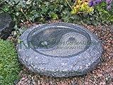 NVA Creative Garden Granite 3024041 Bird Bath, Yin-Yang