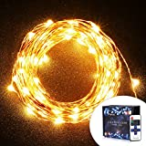Cymas [Upgraded] LED Starry String Lights, Copper Wire Light Decorative Lighting (33 Feet, 100 LEDs)