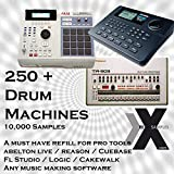 250 Drum Machines - The worlds best drum machines Sampled! (WAV PACK) For Ableotn Live Steinberg Cubase Apple Logic Pro tools Battery or any DAW