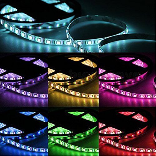 O'Plaza® 16.4 Ft 5050 Waterproof 300Leds,Rgb Color Changing Kit With Led Flexible Strip+44Key Controller