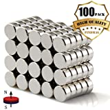 FINDMAG 100Pieces 6X3mm Premium Brushed Nickel Pawn Style Magnetic Push Pins,Fridge Magnets, Office Magnets, Dry Erase Board Magnetic pins, Whiteboard Magnets,Refrigerator Magnets