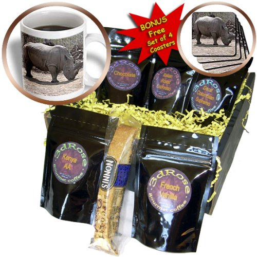 cgb_12191_1 Beverly Turner Photography - Rhino - Coffee Gift Baskets - Coffee Gift Basket 3dRose B004PRZ1AS