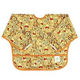 Bumkins Disney Baby Waterproof Sleeved Bib, Winnie The Pooh Woods