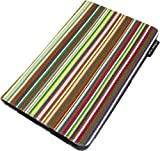 Lente Designs® Google Nexus 7 protective stylish multi angle smart cover case Smithy Stripes multi-coloured stripy combination of yellows, reds, browns for men or women (Not v2 2013 model)
