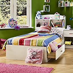 South Shore Logik Twin Bookcase Bed Collection - White