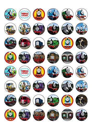 48-round-thomas-the-tank-engine-edible-wafer-paper-cake-toppers-decorations