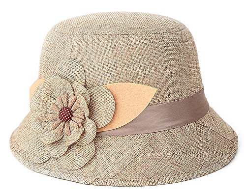 IL Caldo Women's Straw summer hat shading ventilation sun hat fascinators