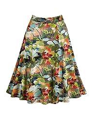 Flappy A-Line Midi Skirt