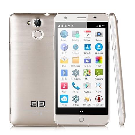 """Elephone P7000 4G LTE 5.5"""" Écran FHD Portables Débloqués Tactile Android 5.0 ID MT6752 64 bits Octa base 1.7GHz RAM de 3 Go / 16 Go ROM 1920 x 1080 Pixels Autofocus GPS WIFI Bluetooth - Doré"""