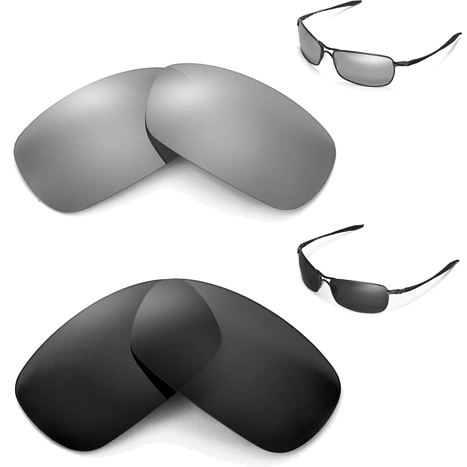 New Walleva Polarized Black + Titanium Lenses For Oakley Crosshair 2.0 (2010 version) oom control for eng lenses