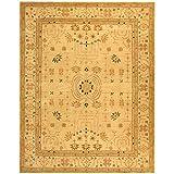 Safavieh Anatolia Collection AN552A Handmade Hand-Spun Wool Area Rug, 8-Feet by 10-Feet, Sand and Sand