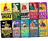 Horrible Histories 10 Books set Collection Pack (Paperback) RRP 59.90(Savage stone age, Cut-throat celts, Smashing Saxons, Incredible Incas, Stormin Normans, Angry Aztecs, Vicious Vikings, Villainous Victorians, Blitzed Brits, Barmy British Empire) (Horrible Histories)