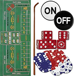Complete Home Style Craps Set - Includes Everything You Need to Play Craps! by Poker Supplies
