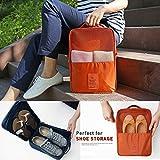 Everything Imported 3 Pair Water Proof Shoe Storage Travel Tote Bag Multi-purpose Portable Rack Foldable Organizer Wardrobe (Random Color)