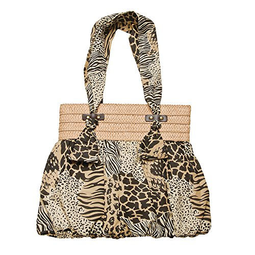 cappelli-bag-878-tan-animal-print-poly-toyo-fabric-handles