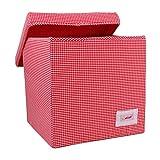 Minene 1556 - guantera, cubo, color: cuadros rojo