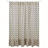 Elysee Ruffled Shower Curtain 72x72""